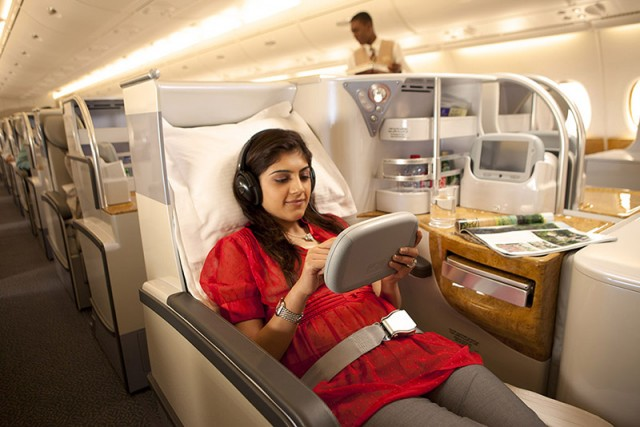 Business mini-suite in daylight--courtesy of Emirates