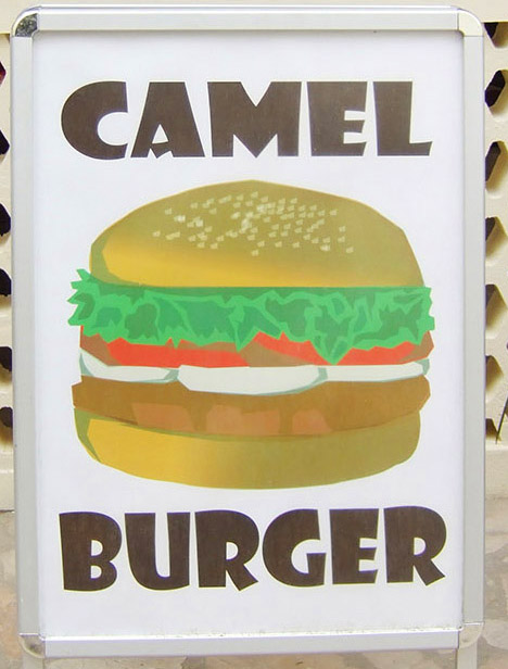 Want fries with your camel burger?