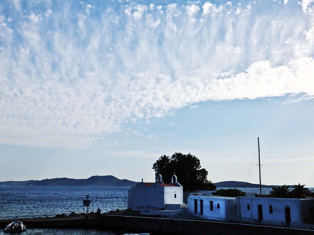 Interesting cloud formation above Mykonos