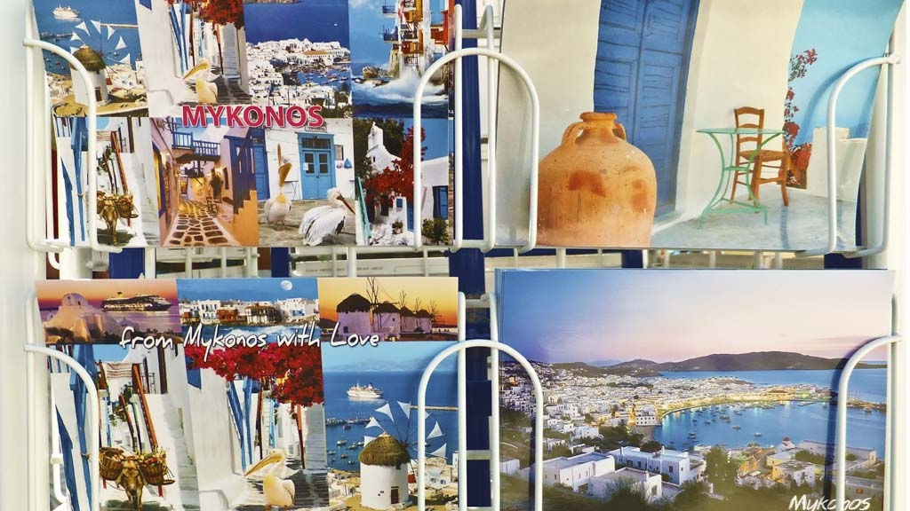 Colorful postcards from Mykonos