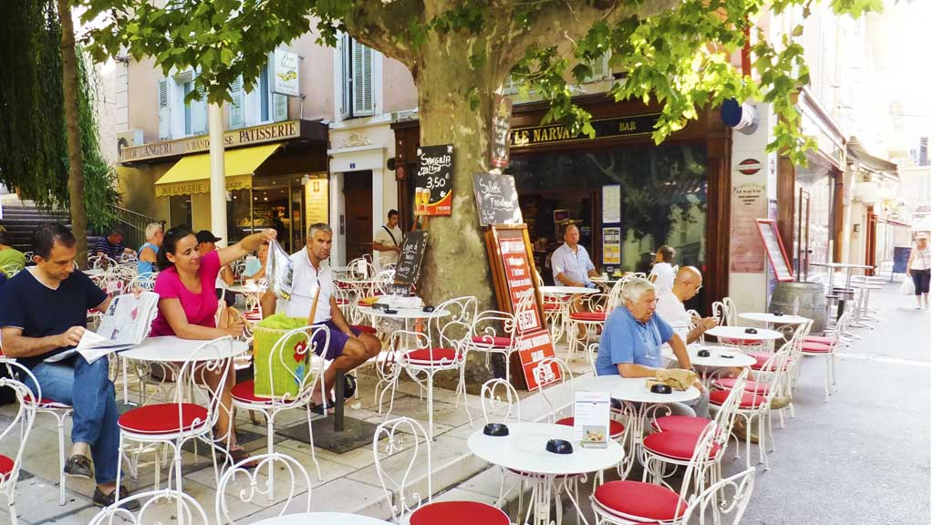 Cafe in Bandol. France