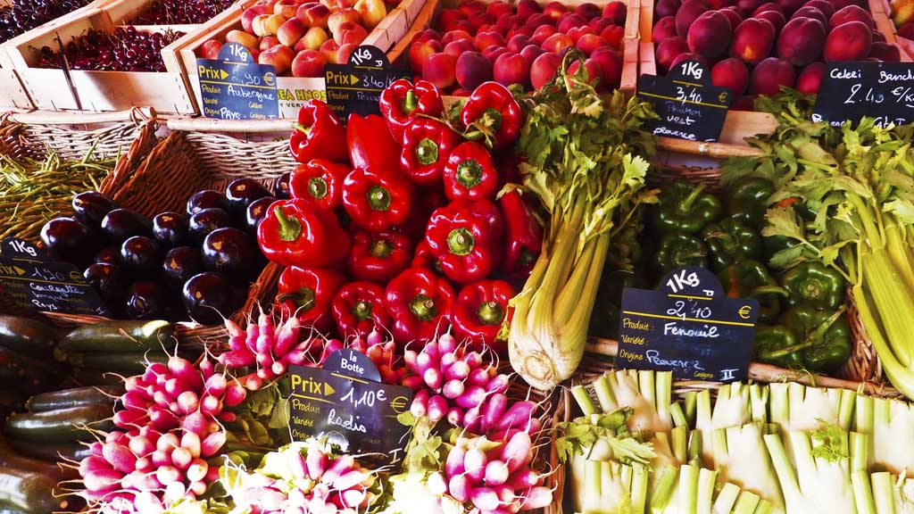 Vegetables in French market