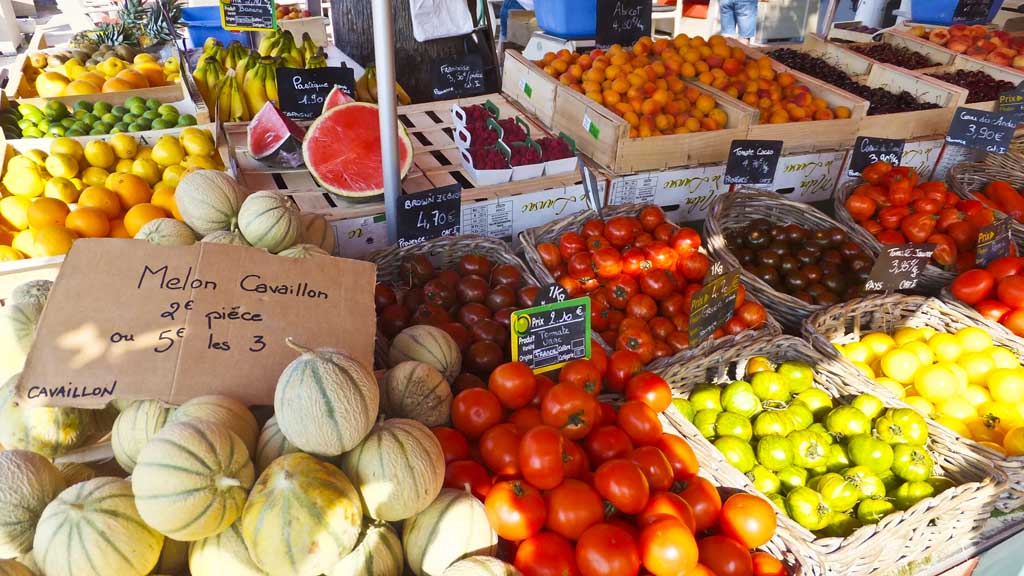 Produce market in Bandol, France