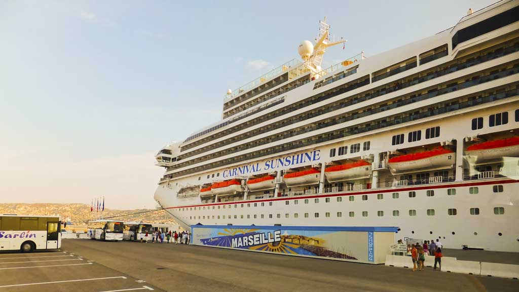 Carnival Sunshine docked in Marseille, France