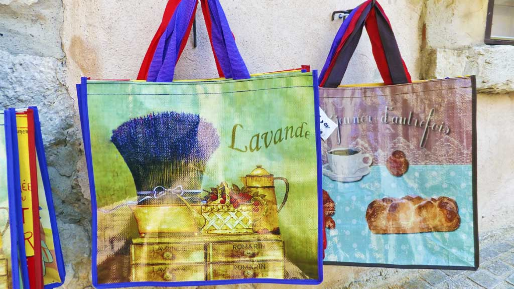 Colors of Provence on shopping bags