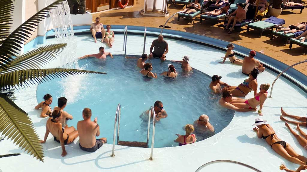 An adult-only pool on Carnival Sunshine