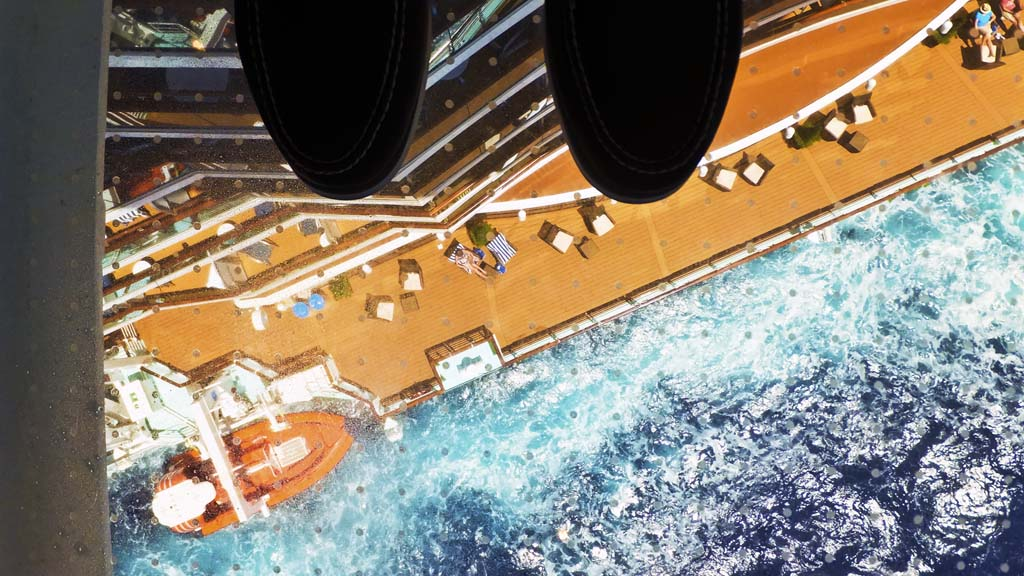 Skywalk glass floor on Royal Princess