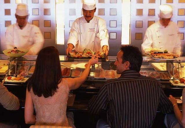 Nobu sushi bar in action